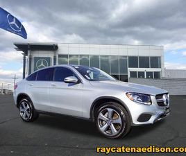 SILVER COLOR 2017 MERCEDES-BENZ GLC 300 COUPE 4MATIC FOR SALE IN EDISON, NJ 08817. VIN IS