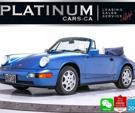 1991 PORSCHE 911 CARRERA 4 CABRIOLET, ONLY 24818KM, SOFT TOP | CARS & TRUCKS | CITY OF TOR