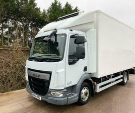 25/11/2015 (65) DAF LF150 CARRIER FRIDGE FREEZEER 7.5 TON 3 X BARN DOORS EURO-6