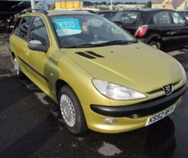 USED 2003 PEUGEOT 206 1.4 SW XT 5D 74 BHP ESTATE 70,000 MILES IN YELLOW FOR SALE | CARSITE