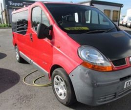 USED 2005 RENAULT TRAFIC 1.9 SL27DCI SWB 1D 100 BHP NOT SPECIFIED 207,000 MILES IN RED FOR