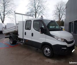 IVECO DAILY CCB 35C14 DOUBLE CABINE BENNE + COFFRE 06 PLACES