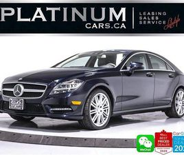 USED 2014 MERCEDES-BENZ CLS-CLASS CLS550 4MATIC, AMG, DISTRONIC, AMG PKG, NAV,HEATED