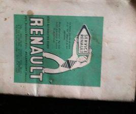 ② NOTICE D ENTRETIEN ORIGINALE RENAULT 4CV 1956 - RENAULT
