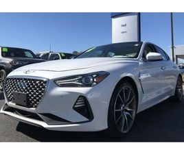 WHITE COLOR 2019 GENESIS G70 DYNAMIC FOR SALE IN NEWPORT NEWS, VA 23608. VIN IS KMTG44LAXK