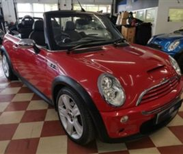USED 2006 MINI CONVERTIBLE 1.6 COOPER S 2D 168 BHP CONVERTIBLE 41,000 MILES IN RED FOR SAL