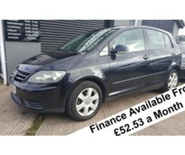 USED 2007 VOLKSWAGEN GOLF PLUS TDI SE 1.9 NOT SPECIFIED 133,493 MILES IN BLACK FOR SALE  
