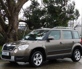 SKODA YETI 1.6TDI 103BHP GREENLINE LOW MILEAGE FOR SALE IN DUBLIN FOR €8,900 ON DONEDEAL