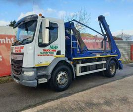 DAF TRUCKS LF LF SKIP LOADER LORRY WITH HYVA EQUIPMENT & SHEETING SYSTEM