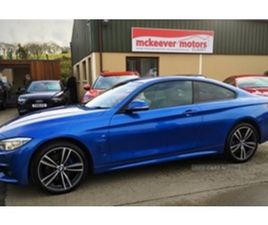 USED 2017 BMW 4 SERIES XDRIVE M SPORT AUTO COUPE 65,000 MILES IN ESTORIL BLUE METALLIC FOR