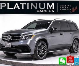 USED 2019 MERCEDES-BENZ GLS CLASS AMG GLS63, 7PASS, DISTRONIC PLUS, DRIVING PKG, 360