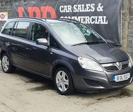 VAUXHALL ZAFIRA, 2010 NCT 11/22 7SEATER FOR SALE IN DUBLIN FOR €3,200 ON DONEDEAL