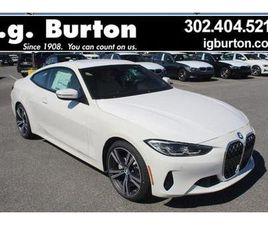 BRAND NEW WHITE COLOR 2021 BMW 4 SERIES 430I XDRIVE FOR SALE IN MILFORD, DE 19963. VIN IS