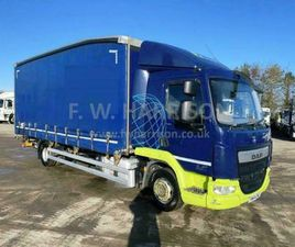 2014 64 REG DAF LF 210 12 TON CURTAIN SIDER, EURO 6, 22FT BODY