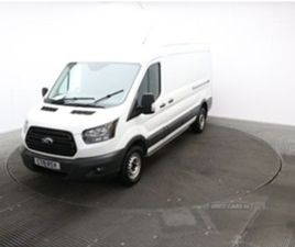USED 2019 FORD TRANSIT 2.0 350 L3 H2 P/V 129 BHP NOT SPECIFIED 35,000 MILES IN WHITE FOR S