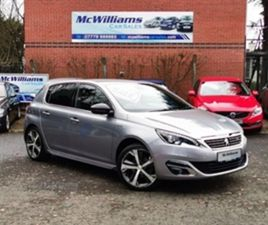 USED 2016 PEUGEOT 308 GT LINE S/S HATCHBACK 30,612 MILES IN GREY FOR SALE   CARSITE