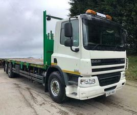2013 63 DAF CF 75.310 6X2 32FT CHEESEWEDGE BEAVERTAIL, WINCH, TOW BAR, WEIGHER