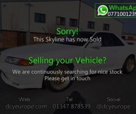 USED 1994 NISSAN SKYLINE R32 GTR SALOON 63,000 MILES IN WHITE FOR SALE | CARSITE