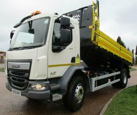 2016 (16) DAF LF 220 18 TON DOUBLE DROPSIDE INSULATED TIPPER, EURO 6