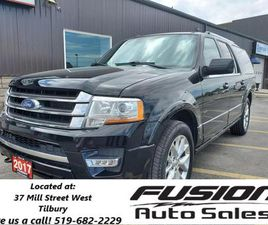 USED 2017 FORD EXPEDITION MAX LIMITED-8PASS-LEATHER-NAVIGATION-MOONROOF
