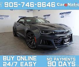 USED 2021 CHEVROLET CAMARO ZL1 | CONVERTIBLE | LEATHER | NAV | SUPERCHARGED!