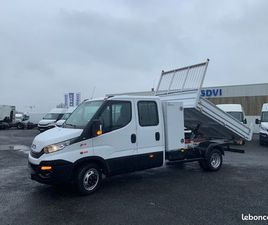 IVECO 35-140 / DOUBLE CABINE / BENNE + COFFRE / 2018 / 26 391 KMS