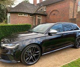 USED 2014 AUDI RS6 RS6 AVANT TFSI V8 QUATTRO ESTATE 46,164 MILES IN BLACK FOR SALE | CARSI
