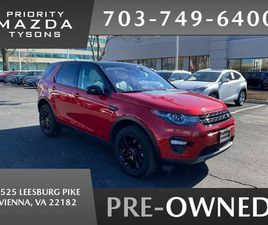 RED COLOR 2018 LAND ROVER DISCOVERY SPORT HSE FOR SALE IN VIENNA, VA 22182. VIN IS SALCR2R