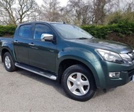 USED 2015 ISUZU D-MAX 2.5 TD YUKON DCB NOT SPECIFIED 83,000 MILES IN GREEN FOR SALE | CARS