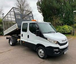 2016 (16) IVECO DAILY 35C13 2.3 CREW CAB CAGED DROPSIDE TIPPER TRUCK * EURO 6 *