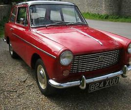 1961 AUSTIN A40 FARINA MK1. RED WITH BLACK ROOF. TAX AND MOT EXEMPT