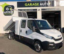 IVECO DAILY 35C14D BENNE COFFRE CABINE APPROFONDIE 7 PLACES