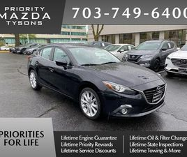 BLACK COLOR 2015 MAZDA MAZDA3 S GRAND TOURING FOR SALE IN VIENNA, VA 22182. VIN IS JM1BM1W