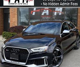 USED 2018 AUDI RS 3 NAVI DYNAMIC SELECT SPORTS EXHAUST ONE OWNER CLEAN CARFAX