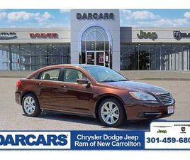 BROWN COLOR 2012 CHRYSLER 200 TOURING FOR SALE IN NEW CARROLLTON, MD 20784. VIN IS 1C3CCBB