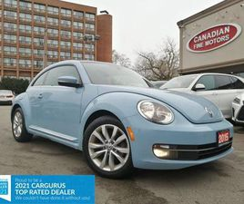 USED 2015 VOLKSWAGEN BEETLE CLEAN CARFAX  LEATHER  PANO   PUSH START   4 NEW SNOW TIRES*