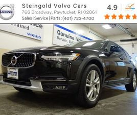 BLACK COLOR 2018 VOLVO V90 CROSS COUNTRY T5 FOR SALE IN PAWTUCKET, RI 02861. VIN IS YV4102