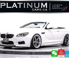 USED 2015 BMW M6 CONVERTIBLE 560HP V8, MANUAL.EXEC PKG, DRIVING AST