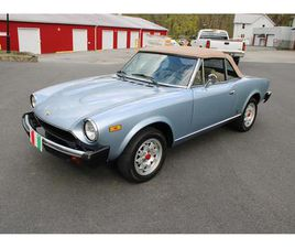 FOR SALE AT AUCTION: 1981 FIAT SPIDER IN CARLISLE, PENNSYLVANIA