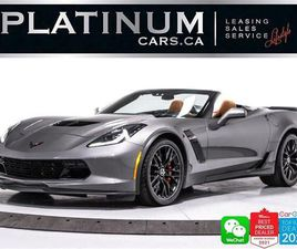 USED 2016 CHEVROLET CORVETTE Z06 CONVERTIBLE, 3LZ, 650HP, COMPETITION SEATS