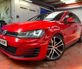 USED 2015 VOLKSWAGEN GOLF GTD S-A HATCHBACK 71,000 MILES IN BRIGHT RED FOR SALE   CARSITE
