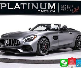 USED 2018 MERCEDES-BENZ AMG GT C ROADSTER, 550HP, MAGNO GREY, NIGHT PKG, NAV, CAM