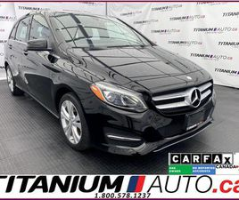 USED 2017 MERCEDES-BENZ B-CLASS 4MATIC+PANO ROOF+GPS+CAMERA+BLIND SPOT+APPLE PLAY