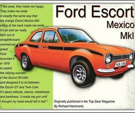 10 X 8 FORD ESCORT MEXICO MK1 CAR NOSTALGIC METAL PLAQUE SIGN OTHERS LISTED 1228
