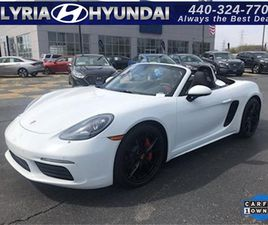 WHITE COLOR 2019 PORSCHE 718 BOXSTER S FOR SALE IN ELYRIA, OH 44035. VIN IS WP0CB2A85KS228