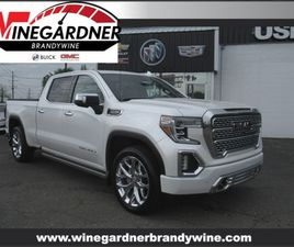 WHITE COLOR 2019 GMC SIERRA 1500 DENALI FOR SALE IN BRANDYWINE, MD 20613. VIN IS 1GTU9FELX