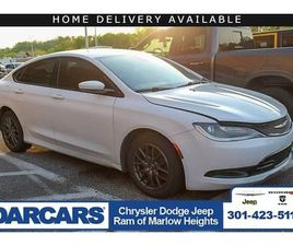 WHITE COLOR 2015 CHRYSLER 200 S FOR SALE IN TEMPLE HILLS, MD 20746. VIN IS 1C3CCCDG3FN6738