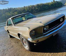FORD MUSTANG GT/CS V8 289CI BVA - 1968