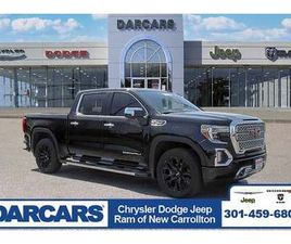 BLACK COLOR 2019 GMC SIERRA 1500 DENALI FOR SALE IN NEW CARROLLTON, MD 20784. VIN IS 3GTU9