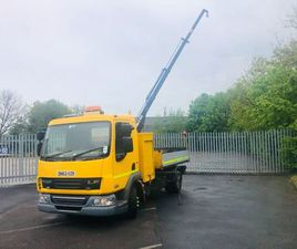 2013 DAF 45/160 7.5TON TIPPER CRANE FOR SALE IN DOWN FOR £1 ON DONEDEAL